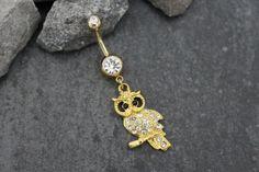 Owl Navel Piercing