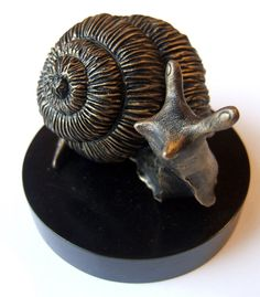 Unique Snail Sculpture in bronze finish
