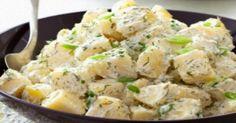 Potato salad with dill and yogurt sauce - iCookGreek Greek Recipes, Veggie Recipes, Vegetarian Recipes, Cooking Recipes, Healthy Recipes, Healthy Foods, Potato Salad Dill, Dill Potatoes, Food Network Recipes