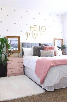Small Bedroom Design for Girl. Small Bedroom Design for Girl. 20 Gorgeous Small Bedroom Ideas that Boost Your Freedom Teenage Bedroom Decorations, Bedroom Decor For Teen Girls, Teenage Girl Bedrooms, Teen Room Decor, Childrens Room Decor, Small Room Bedroom, Teen Bedroom, Bedroom Ideas, Girl Rooms