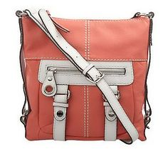 Tignanello Two Tone Glove Leather Zip Top Crossbody Bag Freaking Love This