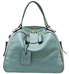 VIVILLI Chic Mod Leather Circle Bowler Satchel Hobo Tote Cabas Shopper Shoulder Handbag