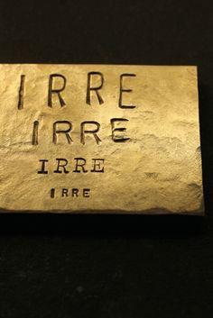 真鍮 表札 看板 オーダー プレート - Brass Plate #56 - IRRE