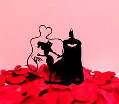 Batman and Cat Women Cake Topper   Etsy shop https://www.etsy.com/listing/224801482/catwoman-and-batman-love-whip-cake