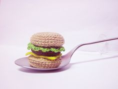 Mini burger - free amigurumi chrochet pattern from Sweet N' Cute Creations