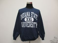 Vtg 90s Champion Indiana State St Sycamores Crewneck Sweatshirt sz XL University #Champion #IndianaStateSycamores