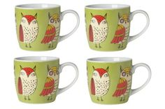 Now Designs Wise Owl Mugs Set of 4 -- You can find more details by visiting the image link. (This is an affiliate link)