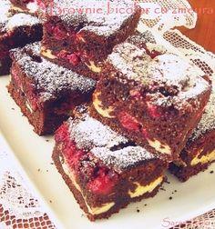 » Brownie bicolor cu zmeuraCulorile din Farfurie Sweet Desserts, Dessert Recipes, Original Recipe, Great Recipes, Brownies, Caramel, Sweet Treats, Food And Drink, Healthy Eating
