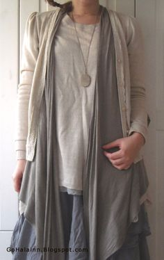 toned down mori girl-i could possibly do this with jeans or leggings...