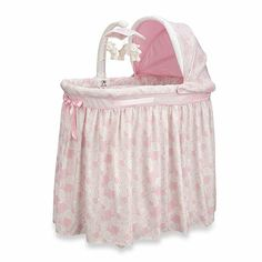 Simmons Kids® Pink Paisley Bassinet - buybuyBaby.com