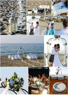 Link in description. Crete, Real Weddings, Wedding Planner, Sky, Table Decorations, Link, Beach, Blue, Image