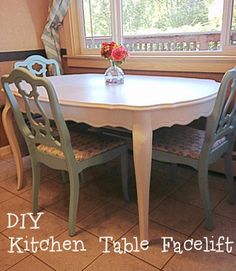 DIY- Kitchen Table Facelift #diy #cheap #kitchen #table #refurbish #paint
