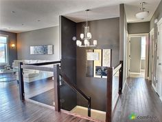 Open Basement Stairs In Kitchen House Plans 17 Trendy Ideas Open Basement Stairs, Stairs In Kitchen, Basement Entrance, Stairs In Living Room, Open Stairs, Modern Basement, Basement Bedrooms, House Stairs, Entrance Hall