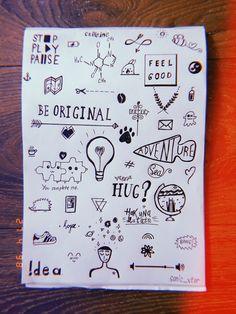 Word Doodles, Notebook Doodles, Doodle Art Journals, Cute Doodles, Random Doodles, Doodle Art Letters, Cute Easy Drawings, Small Drawings, Cool Art Drawings