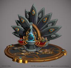 Peacock Shrine, Yili Tan on ArtStation at https://www.artstation.com/artwork/vZzgA