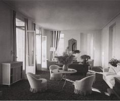 Jacqueline and Raymond Patenotre's Salon, circa 1936, decorated by Jean-Michel Frank