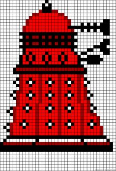 Doctor Who Dalek perler bead pattern