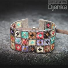 Bransoletka etniczna - beading - Mersin - Djenka