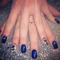 My Beauty and the Beast nails!