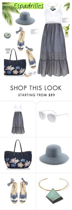 """""""Step into Summer: Espadrilles"""" by slavicabojanovic ❤ liked on Polyvore featuring Sandro, Smoke x Mirrors, Tory Burch, Eric Javits, Soludos and espadrilles"""