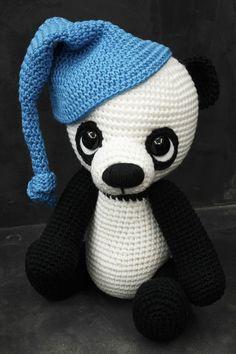 Háčkovaná panda Danni - Návod / Zboží prodejce Modrá koala | Fler.cz Panda, Hello Kitty, Crafts, Fictional Characters, Art, Amigurumi, Art Background, Manualidades, Kunst