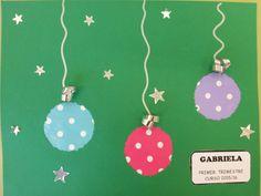 PORTADA TRABAJOS PRIMER TRIMESTRE Diy Christmas Cards, Christmas Time, Christmas Ornaments, Tapas, English Activities, Xmas Decorations, Holiday Decor, Handmade, Crafts