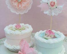 Birthday Decoration Mother's Day Three Parasol Cupcake
