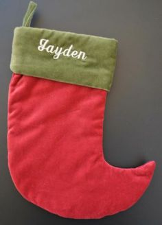 Red Velvet Christmas Stockings On Pinterest Christmas