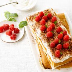 Découvrez la recette tiramisu aux framboises sur cuisineactuelle.fr.