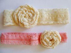 Simple Newborn Lace Headband by LUVVBUGG on Etsy, $3.00