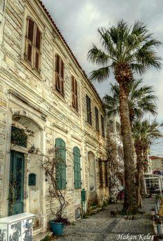 Foça houses, Izmir, Turkey