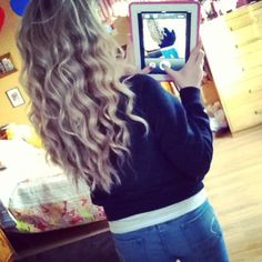 Curly hair style for long hair