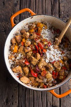 30 Minute Healthy Kickin' Cajun Chicken and Rice | halfbakedharvest.com