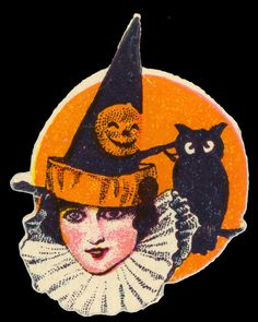 Dennison Diecut Witch, c. 1920