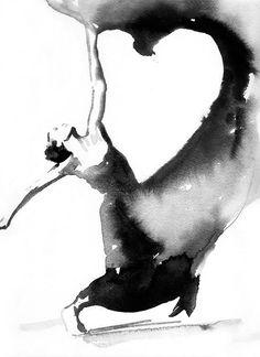 Dancer Print Archival Prints Dancer Art Print by silverridgestudio