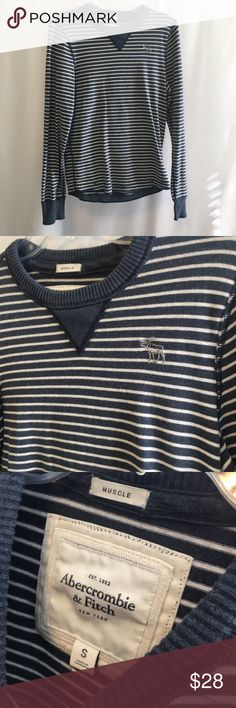 ABERCROMBIE AND FITCH men's long sleeve Men's striped long sleeve. Size small from A&F. Gently used with no stains or snags. Great condition. Abercrombie & Fitch Shirts Tees - Long Sleeve