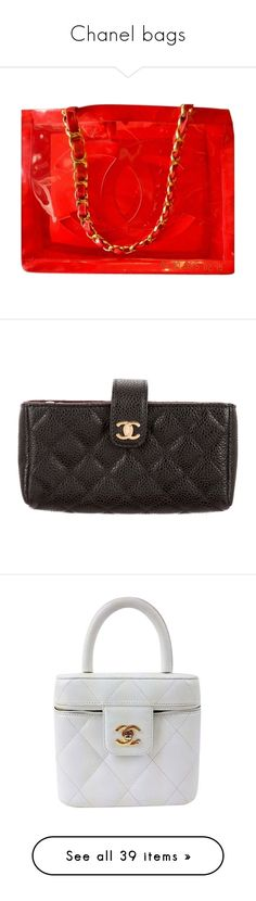 """""""Chanel bags"""" by sylvia-aylin ❤ liked on Polyvore featuring bags, handbags, tote bags, chanel, red, chanel handbags, clear beach tote, clear tote bags, clear tote and shopping tote bags"""