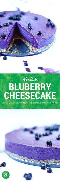 No-Bake Blueberry Cheesecake |