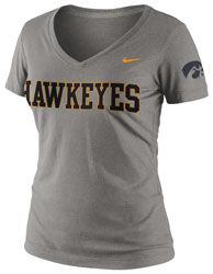 Iowa Hawkeyes Women's Dark Heather Grey Nike Seasonal Logo Tri-Blend V-Neck T-Shirt $27.99 http://www.fansedge.com/Iowa-Hawkeyes-Womens-Dark-Heather-Grey-Nike-Seasonal-Logo-Tri-Blend-V-Neck-T-Shirt-_-619137429_PD.html?social=pinterest_pfid28-24062