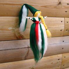 Needle felted elf hanging pixie Mistletoe by elfkendalfairies