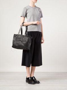 M.A+ - Reverse Pig-Leather Patch Work Bag - BQ33 MAV.R 1.3 BLACK - H. Lorenzo