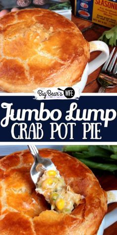 Jumbo Lump Crab Pot Pie - Oh my word, and I'm not even sure that I can begin to tell you have creamy and fantastic this pot pie really is. I mean I've eaten quite a few pot pies throughout my life and this was one of the top, for sure. Jumbo Lump C Seafood Pot Pie, Seafood Dinner, Fish And Seafood, Seafood Lasagna, Fish Recipes, Seafood Recipes, Cooking Recipes, Lump Crab Meat Recipes, Crab Meat Pie Recipe