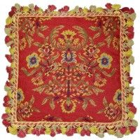 Red Study - 18 x 18 in. needlepoint pillow