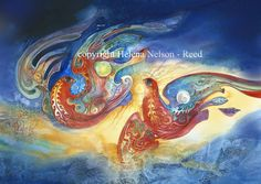 Kindred Spirits Art Print by Helena Nelson - Reed. All prints are professionally printed, packaged, and shipped within 3 - 4 business days. Magic Realism, Realism Art, Illustrations, Illustration Art, Spirited Art, Thing 1, 2d Art, Watercolor Techniques, Canvas Prints