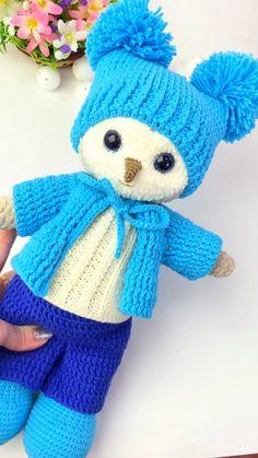 Description of knitting owls. Crochet and knitting. Crochet and knitting. Toys, MK, Amigurumi Crochet 2 in 1 Workshop Owl Knitting Pattern, Crochet Doll Pattern, Crochet Toys Patterns, Stuffed Toys Patterns, Knitting Toys, Crochet Owls, Crochet Amigurumi, Amigurumi Doll, Crochet Teddy