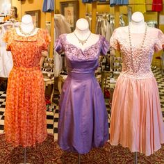 Three beautiful vintage cocktail dresses! Which one is your favourite?