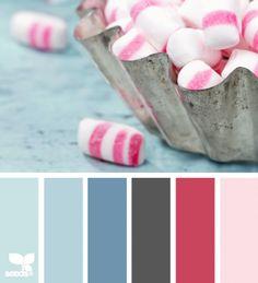 koraal, roze, middenblauw, ijsblauw
