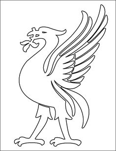 Coloring Pages Of A Bird Elegant Liverpool Liver Bird Coloring Pages Liverpool Tattoo, Liverpool Fc Badge, Liverpool Bird, Liverpool Cake, Liverpool Soccer, Liverpool Fc Wallpaper, Bird Coloring Pages, Colouring, Bird Template