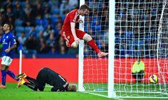 West Brom's Chris Brunt celebrates Esteban Cambiasso 's own goal in the Premier League