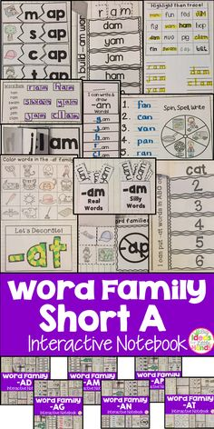 This is a Word Family Interactive Notebook to help students practice and learn CVC words and word families. There are 22 different activities for each Short A word family to help your students master the word family. You may choose which activities are best for your students. The activities include: - Sort by word family - Word Family Word Search - ABC Order - Roll, Write, Graph - Spin, Write, Graph - Real & Not Real Pockets - Building Words - Highlight then Trace - Color the Pictures…